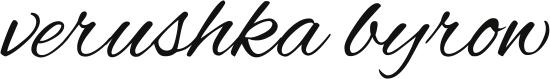 Verushka Byrow - Editor, proofreader, copyeditor, writer