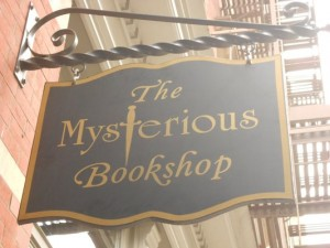 Mysterious bookshop sign