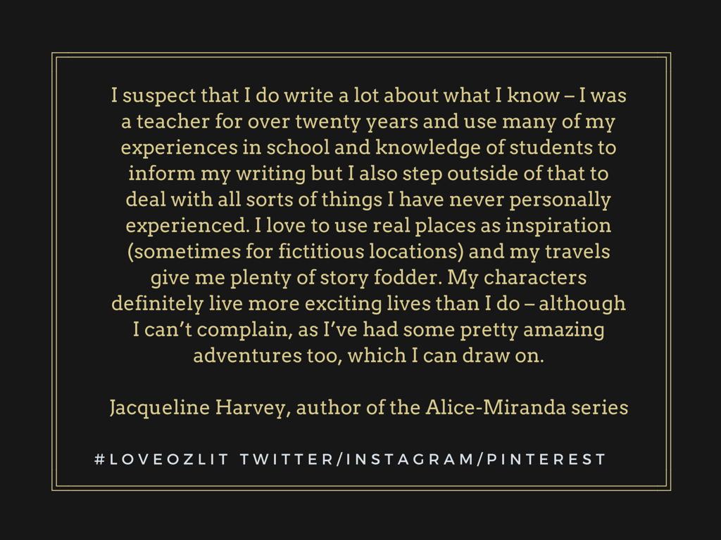 Jacqueline Harvey Write what you know
