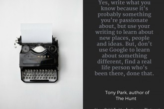 Tony Park writing quote