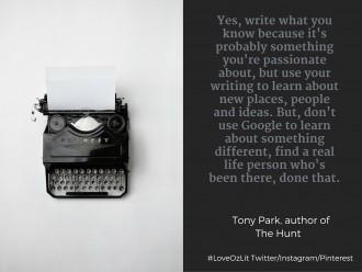 Tony Park writing quote