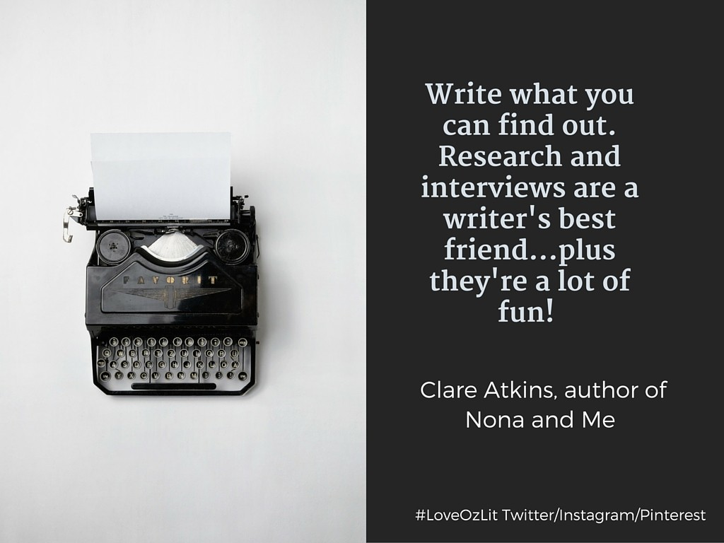 #LoveOzLit: Clare Atkins, author of Nona and Me