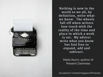 Malla Nunn writing tips