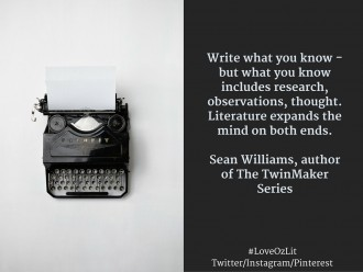 Australian author Sean Williams writing advice