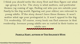 Pamela Hart , author of The Soldier's Wife