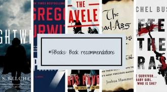 #5Books: Book Recs week ending 10/01/16