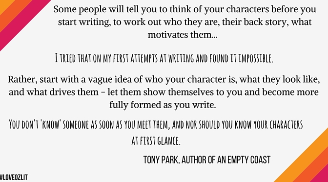 Tony Park on the worst advice he received on characterisation