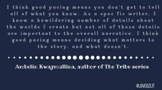Ambelin Kwaymullina on pacing