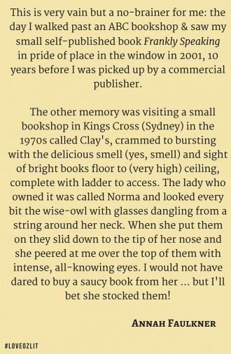 #LoveOzLit: Annah Faulkner on her favourite bookstore memory