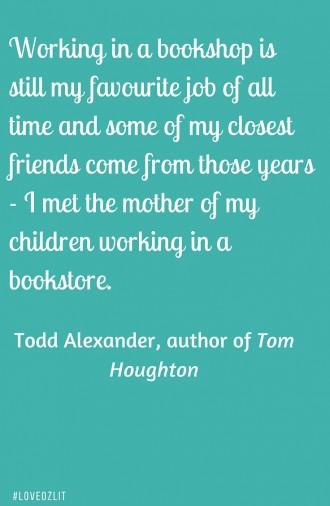 #LoveOzLit: Todd Alexander on his favourite bookstore memory