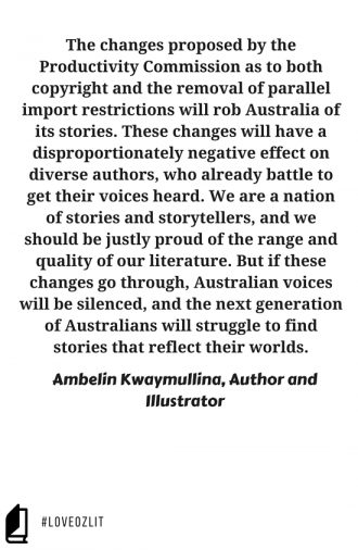 Ambelin Kwaymullina on what the Productivity Commission changes mean for diverse authors