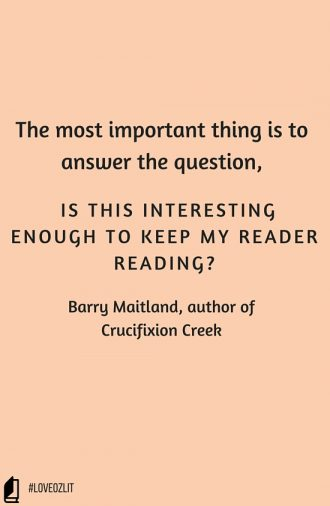 #LoveOzLit: Barry Maitland on plot development