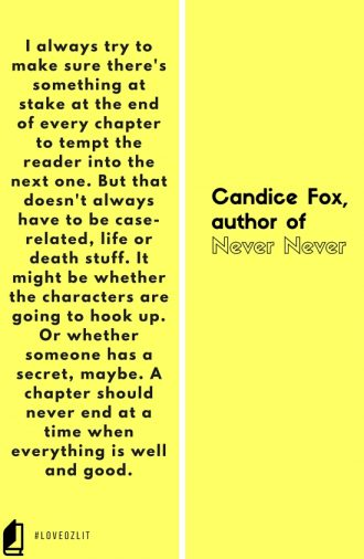 #LoveOzLit: Candice Fox on plot development and making sure something is always at stake