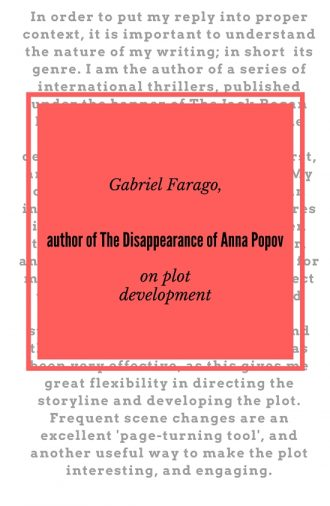 #LoveOzLit: Gabriel Farago on plot development