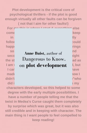#LoveOzLit: Anne Buist on Plot development