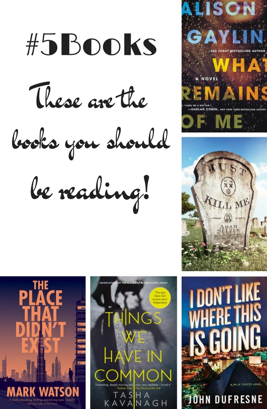 #5Books book recs for week ending 060816