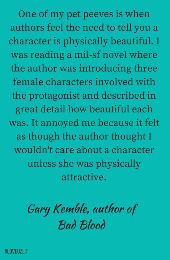 Gary Kemble, author of Bad Blood