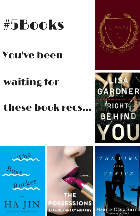 #5Books book recs for the week ending 040916