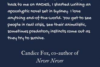 Candice Fox on writing an apocalyptic novel