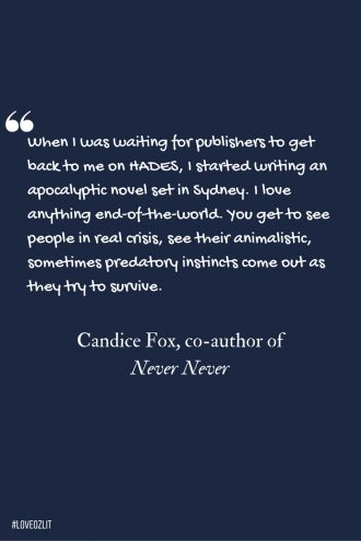 Candice Fox on writing an apocalyptic novel