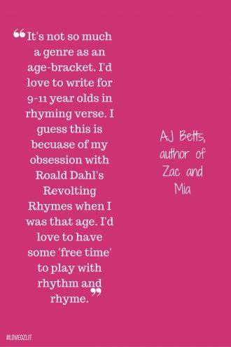 AJ Betts on rhythm and rhyme