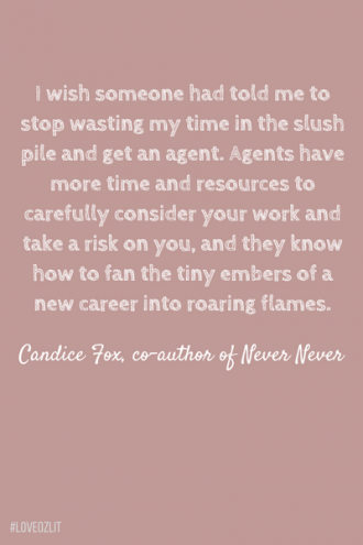 Candice Fox on the importance of literary agents
