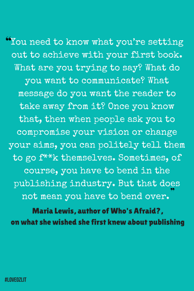 Maria Lewis on what she wished she knew about publishing