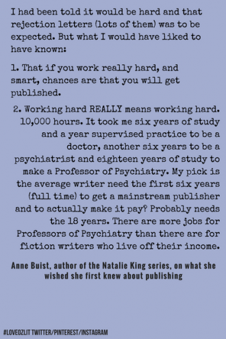 #LoveOzLit: Anne Buist shares some harsh truths about writing