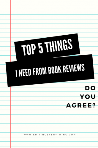 Top 5 Things I need from Book Reviews