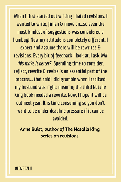 Anne Buist on Revisions