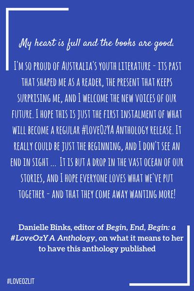 #LoveOzLit Danielle Binks on LoveOzYA Anthology