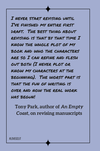 #LoveOzLit: Tony Park on revising manuscripts