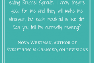 #Loveozlit: Nova Weetman on revisions