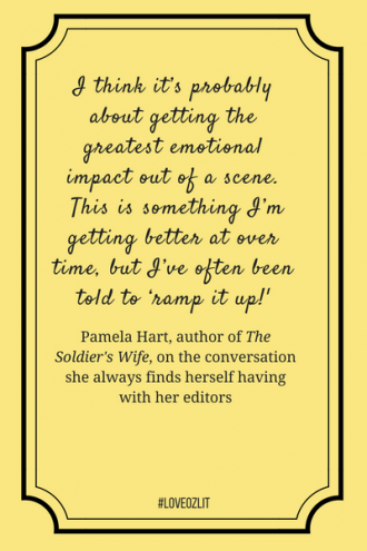 Pamela Hart on the conversations she always had with her editor