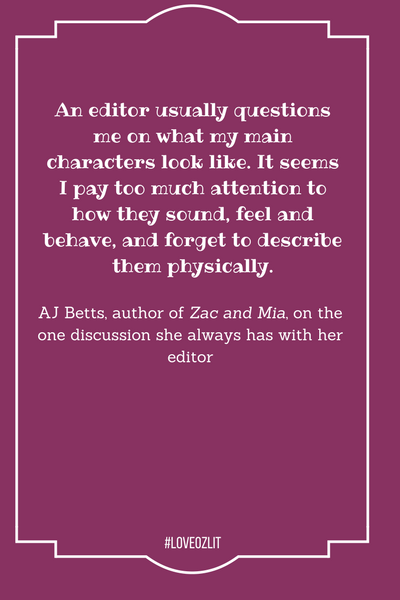 AJ Betts on what her characters look like