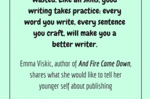 #LoveOzLit Emma Viskic on what she would tell her younger self about publishing