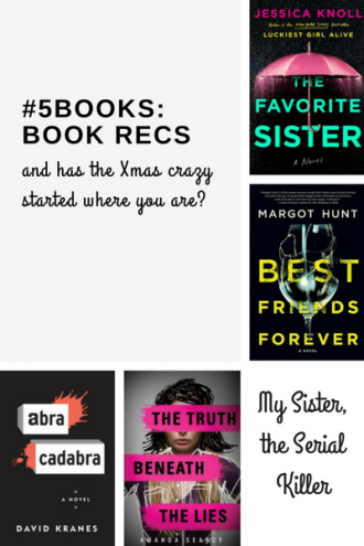 #5Books book recs for the week ending 17 Dec