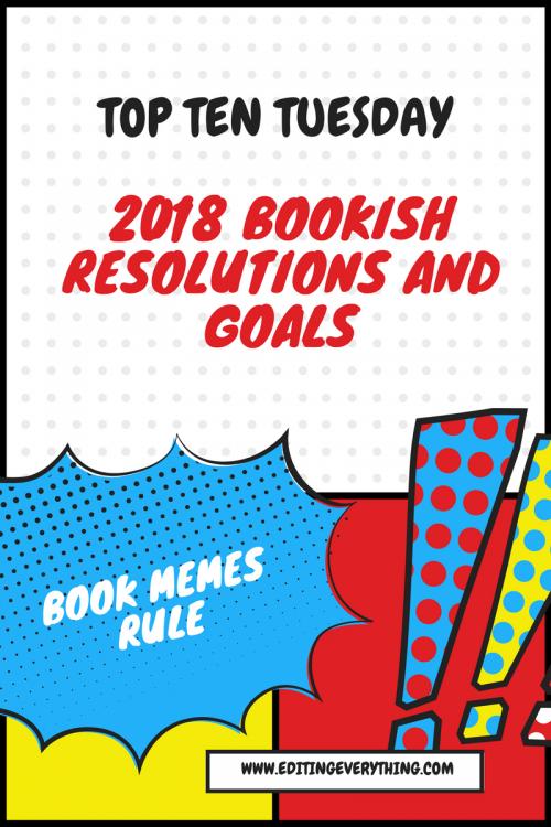 Top Ten Tuesday 2018 resolutions
