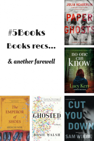 #5Books for the week ending 25 MArch 2018