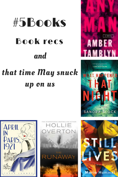 #5Books book recs for the week ending 23 April 2018