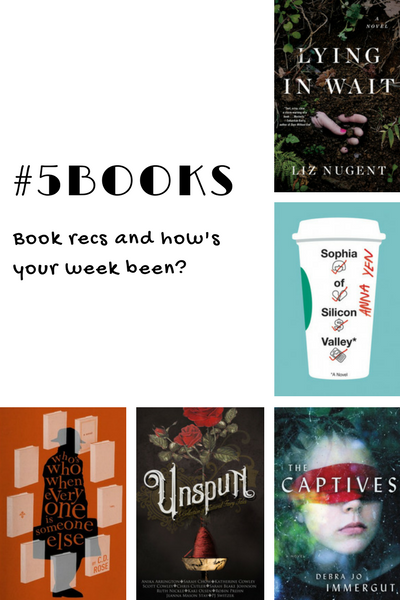 #5Books for the week ending 15 April 2018
