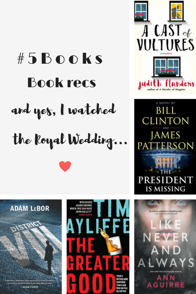 #5Books for the week ending 20 May 2018