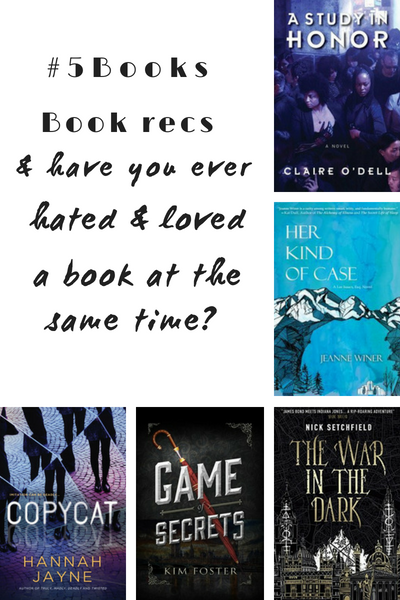 5books Book Recs And Books You Hate To Love Like Somewhere In The