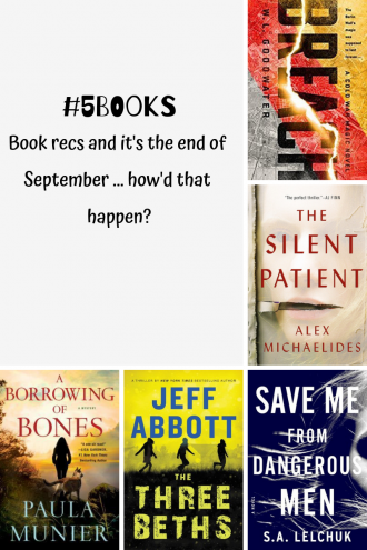 #5Books recs for the week ending 23 September 2018